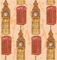 Big Ben Phone Cabin vector image