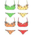 Bikini set vector image