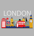 british london symbols poster vector image vector image