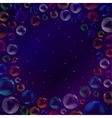 Bubbles in space vector image
