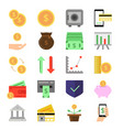 business and finance icons set b2c and b2b vector image vector image