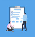 business plan checklist and young entrepreneurs vector image