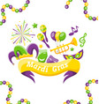 celebration banner with set carnival icons and vector image vector image