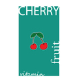 cherry fruit color vector image vector image