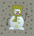 christmas snowman isolated on white background vector image vector image