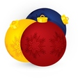 christmas three balls vector image vector image