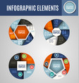 circle infographics set 3 vector image vector image