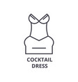 cocktail dress line icon outline sign linear vector image vector image