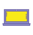 color laptop screen electronic technology vector image vector image