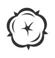 cotton flower in blossom symbol floral design vector image vector image