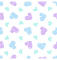 doodle heart pattern scattered in bright vector image vector image