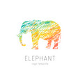elephant creative colorful logo template vector image vector image