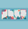 end season summer sale instagram stories vector image vector image