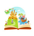 fairy tales pop up book vector image