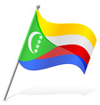 flag of Comoros vector image