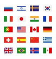 Flags flat icons vector image