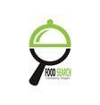food search logo vector image vector image