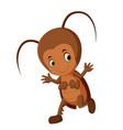 funny cockroach cartoon vector image vector image