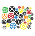 gear icons silhouette isolated engine wheel vector image vector image