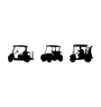 Golf car silhouettes vector | Price: 1 Credit (USD $1)