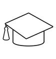 graduation cap icon outline line style vector image vector image