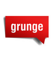 grunge red 3d speech bubble vector image vector image