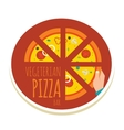 handmade pizza pizza icon for a vector image vector image