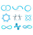 infinity logo geometric elements icon set vector image