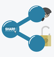Internet sharing and risks vector image vector image