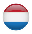 isolated flag of the netherlands vector image