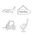 isolated object of airport and airplane symbol vector image vector image