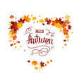 isolated white with autumn leaves vector image
