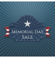 Memorial Day Sale festive Poster and Ribbon vector image vector image