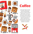 modern poster with coffee background vector image vector image
