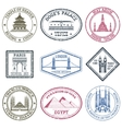 Monuments Stamps Set vector image vector image