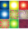 multicolored shining background vector image
