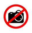 no camera no photo vector image vector image