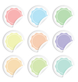 paper labels vector image vector image