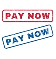 Pay Now Rubber Stamps vector image vector image