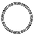 round ornament meander vector image
