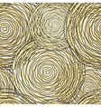 Seamless pattern with golden circle vector image vector image