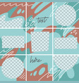 set abstract modern puzzle backgrounds vector image
