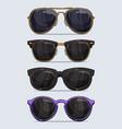 set hand drawn modern and beautiful sunglasses vector image