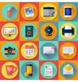Set of Modern flat icons collection for vector image