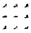 shoes 9 icons set vector image