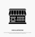 shop online market store building solid glyph icon vector image vector image