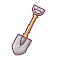 shovel icon cartoon style vector image