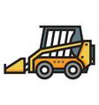 skid steer loader linecolor vector image