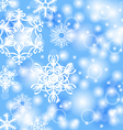 snow back vector image vector image