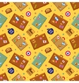 Suitcases seamless pattern vector image